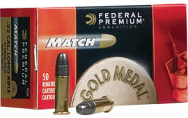 Federal 922A Gold Medal Match 22 Long Rifle (LR) 40 GR Lead Round Nose - 50rd Box