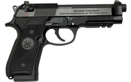 Beretta J9A9F102 92A1 9MM Semi-Auto Pistol, 4.9 Threaded Barrel - 17 Round, Black
