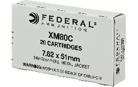 Federal XM80C American Eagle 308 Winchester/7.62 NATO 149 GR Full Metal Jacket - 20rd Box