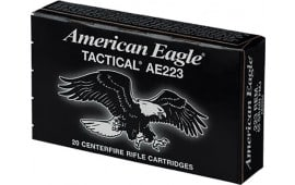 Federal AE223J Case, American Eagle .223/5.56 NATO 55 GR Full Metal Jacket Boat Tail - 500 Round Case
