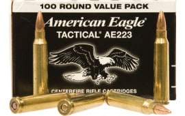 Federal AE223BL American Eagle .223/5.56 NATO 55 GR Full Metal Jacket Boat Tail - 500 Round Case