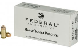 Federal RTP40165 Range and Target 40 Smith & Wesson (S&W) 165 GR Full Metal Jacket - 1000 Round Case