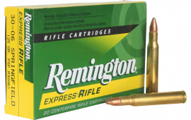Remington Ammunition R30061 Standard 30-06 125  GR Pointed Soft Point - 20rd Box