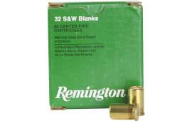 Remington Ammunition R32BLNK Centerfire Blank 32 Smith & Wesson - 50rd Box