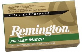 Remington Ammunition RM308W8 Premier Match 308 Winchester/7.62 NATO 175  GR Hollow Point Boat Tail - 20rd Box
