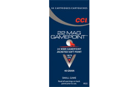 CCI 0022 22Win Mag 40 GR Gamepoint Jacketed Soft Point - 50rd Box