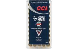 CCI 951 Varmint 17 Hornady Magnum Rimfire (HMR) 16 GR TNT Hollow Point - 50rd Box