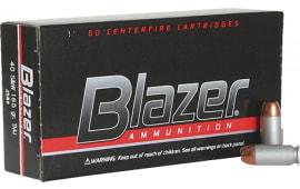 CCI 3589 Blazer 40 S&W 165  GR Total Metal Jacket - 50rd Box