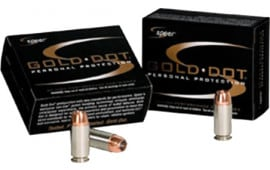 Speer 23606 Gold Dot 380 ACP 90 GR Gold Dot Hollow Point - 20rd Box