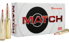 Hornady 8218 Match 300 Winchester Mag Boat Tail Hollow Point 195  GR - 20rd Box