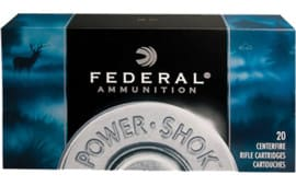 Federal 308B Power-Shok 308 Win/7.62 NATO Soft Point 180 GR - 20rd Box