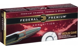 Federal P6C Vital-Shok 6mm Remington 100 GR Nosler Partition - 20rd Box