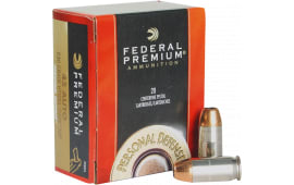 Federal P45HS1 Premium 45 ACP Hydra-Shok Jacketed Hollow Point 230 GR - 500 Round Case