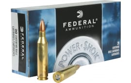 Federal 243AS Power-Shok 243 Winchester 80 GR Jacketed Soft Point - 20rd Box