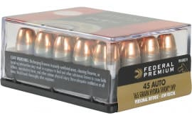Federal PD45HS3H Premium 45 ACP Hydra-Shok Jacketed Hollow Point 165 GR - 200 Round Case