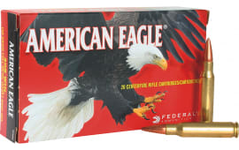Federal AE223N Case, American Eagle .223/5.56 NATO 62 GR Full Metal Jacket Boat Tail - 500 Round Case