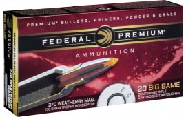 Federal P270WBTT1 Vital-Shok 270 Weatherby Magnum 130 GR Trophy Bonded Tip - 20rd Box
