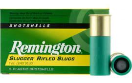 "Remington Ammunition S12MRS Slugger 12GA 3"" 1oz Slug Shot - 5sh Box"