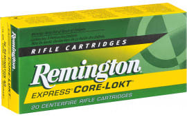 Remington Ammo R22501 Standard 22-250 Rem 55 GR Pointed Soft Point - 20rd Box
