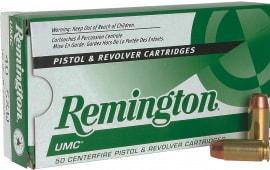 Remington Ammunition L40SW4 UMC 40 Smith & Wesson (S&W) 165 GR Metal Case (FMJ) - 50rd Box