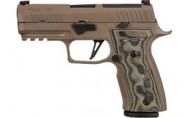 "Sig Sauer 320AXGCA9CWSCPNR2 320 9MM Semi-Auto Pistol, 3.9"" BBL, SCRP XRAY FDE 3-17 Rd Mags"