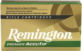 Remington Ammunition PRA2250RB Premier 22-250 Rem AccuTip 50 GR - 20rd Box