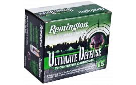 Remington Ammunition HD9MMBN Ultimate Defense Full Size Handgun 9mm Luger 124 GR Brass Jacket Hollow Point - 20rd Box