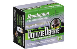 Remington Ammunition HD380BN Ultimate Defense Full Size Handgun 380 ACP 102 GR Brass Jacket Hollow Point - 20rd Box