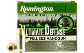 Remington Ammunition HD45APC Ultimate Defense Full Size Handgun 45 ACP 185 GR Brass Jacket Hollow Point - 20rd Box