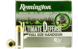 Remington Ammunition HD45APA Ultimate Defense Full Size Handgun 45 ACP 185 GR Brass Jacket Hollow Point - 20rd Box