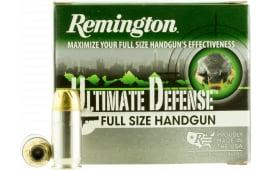 Remington Ammunition HD45APA Ultimate Defense Full Size Handgun 45 ACP 185 GR Brass Jacket Hollow Point - 20rd Box