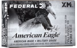 Federal AE223JX .223 Remington 55 FMJ Boat Tail - 20rd Box