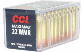 CCI 0023 Select 22 Win Mag Total Metal Jacket 40 GR - 50rd Box