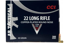 CCI 956 22 Long Rifle Copper-plated Round Nose 40 GR - 300rd Box