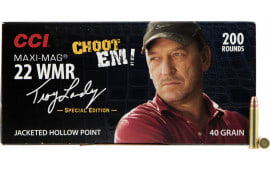 CCI 958 22 Winchester Magnum Maxi-Mag Swamp People Jacketed Hollow Point 40  GR - 200rd Box