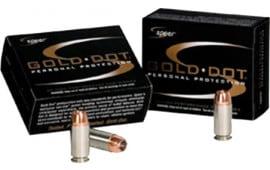 Speer 23962 Gold Dot 40 S&W 180 GR Gold Dot Hollow Point - 20rd Box