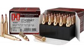 Hornady 83004 Superformance Varmint 17 Hornet 15.5  GR NTX - 25rd Box