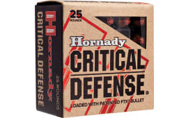 Hornady 90250 Critical Defense 9mm Luger 115  GR Flex Tip Expanding - 25rd Box