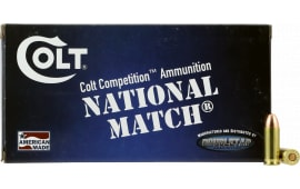 Colt Ammo 38SU124FMJCT Defense 38 Super 124  GR Full Metal Jacket - 20rd Box