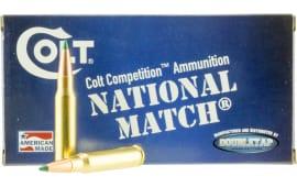 Colt Ammo 308W155CT National Match 308 Win/7.62 NATO 155  GR Match - 20rd Box