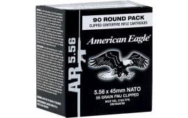 Federal XM193AF90 American Eagle 5.56 NATO Clipped FMJ 55 GR - 450rd Case