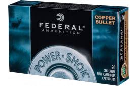 Federal 308150LFA Power-Shok 308 Winchester/7.62 NATO 150 GR Copper - 20rd Box