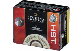 Federal P38HST1S Personal Defense HST Micro 38 Special +P 130  GR HST Jacketed Hollow Point - 20rd Box