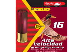 "Aguila 1CHB1607 Hunting High Velocity 16 GA 2.75"" 1-1/8oz #7.5 Shot - 250sh Case"