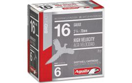 "Aguila 1CHB1606 Hunting High Velocity 16 GA 2.75"" 1-1/8oz #6 Shot - 250sh Case"