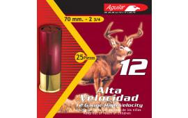 "Aguila 1CHB1208 Hunting High Velocity 12 GA 2.75"" Lead 1-1/4oz #8 Shot - 250sh Case"