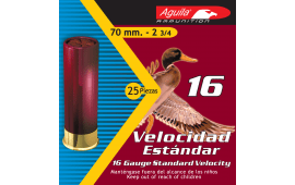 "Aguila 1CHB1618 Hunting Standard Velocity 16 GA 2.75"" 1oz #8 Shot - 250sh Case"