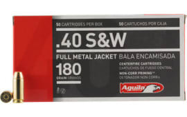 Aguila 1E402110 40 Smith & Wesson (S&W) 180  GR Full Metal Jacket Flat Nose - 50rd Box