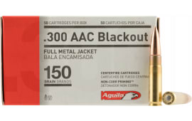 Aguila 1E300110 300 AAC Blackout/Whisper (7.62x35mm) 150  GR Full Metal Jacket Boat Tail - 50rd Box