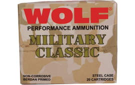 Wolf MC3006SP140 Military Classic 30-06 Soft Point 140  GR - 500rd Case